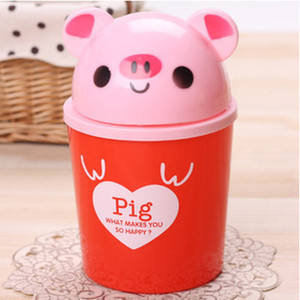 Wholesale-2015 Polo Ralp Women Design Plastic Top Price Free Shipping Cute Animals Garbage Bin Fashion Mini Storage Box Multicolor Chose