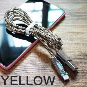 Wholesale Details about DZ Nylon Braided Lights LED Micro USB Cable Android Sync Data Cable Type C Fast wholesales price