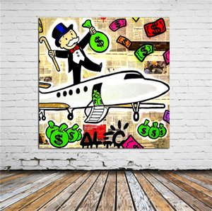 "Alec Monopoly,1 Pieces Home Decor HD Printed Modern Art Painting on Canvas (Unframed Framed) 20x20"" #01"