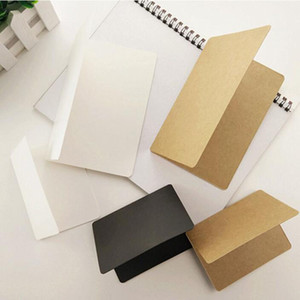 Wholesale 10 cm Kraft Paper Blank Greeting Card Gift Cards DIY Craft Wedding Party Invitation White Brown Black QW7114
