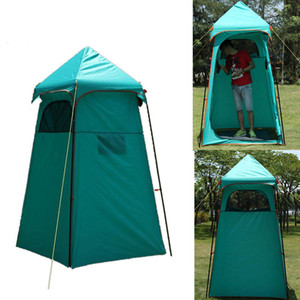 Wholesale outdoor changing tents resale online - Waterproof shower tent dressing changing room bathing tent UV protection waterproof Large Outdoor camping shower Bath Change clothes tents