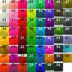 63colors 50g ball High Quality Warm DIY Acrylic Yarn Baby Yarn for Knit Blanket Crochet Yarn free ship