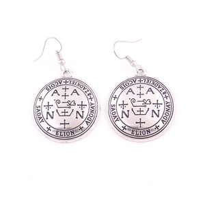 Wholesale gold talisman for sale - Group buy Silver Or Gold Archangel Zadkiel Talisman Seal Of The Zadkiel Angelic Pendant Charm Earring Trade Assurance Service