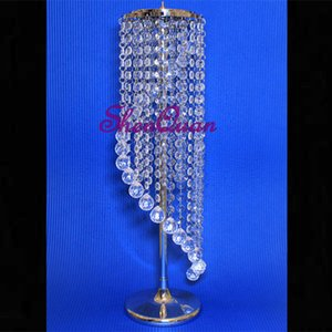 Wholesale Wedding Spiral Crystal Chandeliers wedding gift card holder Centerpieces Decorations Crystal Bling Diamond Cut for Event Party Decor