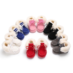 Winter Boots Baby Shoes Girls Boys Walker Toddler Newborn Soft Sole Fashion Handsome Booty Infant Children Warm Thick Shoes Kids