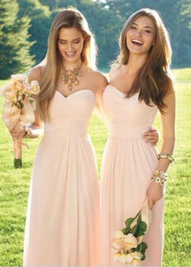 Wholesale dresses light pink resale online - Custom Made Styles Cheap Long Chiffon Bridesmaid Dresses Light Pink Convertible Style Junior Bridesmaid Beach Wedding Party Dresses