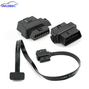 Wholesale Male Female Flat Wire OBD2 Extension Adapter OBD2 pin Pin Full Convert Cord for Car Diagnostic Scanner Connector