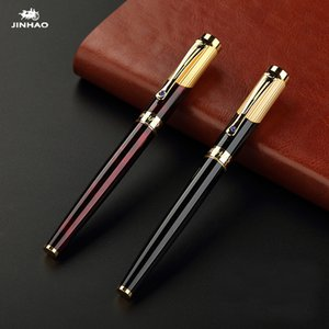 Wholesale Jinhao Luxury Gold Rollerball Pen with Diamond Clip Smooth Metal Ballpoint Pen for Student School Supplies
