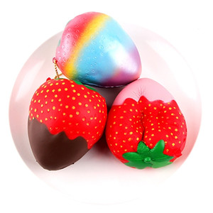 simulation 10cm chocolate strawberry slow rebound Pu simulation food play children's decompression toys