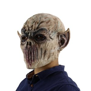 C Miracle Scary Halloween Alien Zombie Mask Devil Mask Masquerade Cosplay Dance Party Biochemical Caps Mask