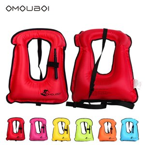 Wholesale 6pcs OMOUBOI Inflatable Children Swim Ring Water Entertainment PFDs Safety Life Buoy Colorful Durable Floating Ring Freeship