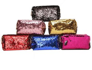Cross Border New Mermaid Sequin Makeup Bag Hand Zipper Fashion Bag Waterproof Woman Zero Wallet Wholesale