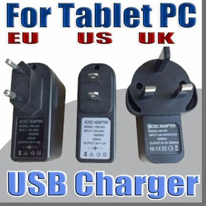 Wholesale 2019 EU US UK Plug Universal USB Charger AC Power Adapter for Q88 A33 G G inch Tablet PC Cell phone V A C PD