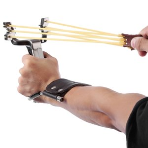 Wholesale Stainless Steel Powerful Slingshot Catapult Outdoor Hunting Equipment Hunter Sling Shot