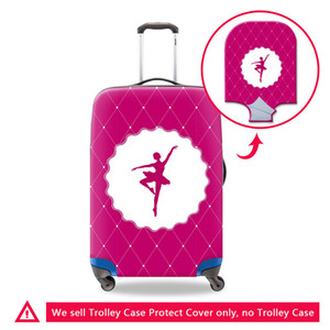 Wholesale cute travel accessories for sale - Group buy Brand Luggage Cover Pattern Fashion Travel Accessories for Girls Cute Suitcase Cover Apply to inch Drop Shipping