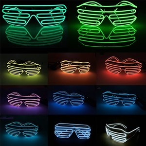 Wholesale New Fashion Multi Color Flashing EL Wire Led Glasses Luminous Party Decorative Lighting Classic Gift Bright Light Festival Gift