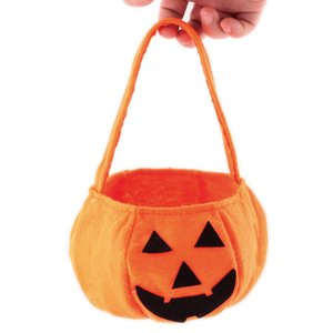 Wholesale 1 PC New Children Baby Kids Halloween Pumpkin Bag Kids Handbag Bucket Child Funny Candy Gift Bag Holiday Supplies