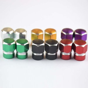 Wholesale Universal Aluminum Auto Bicycle Car Tire Valve Caps Tyre Wheel Hexagona Air Stems Cover Airtight Accessories