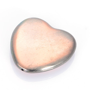 Wholesale 20 x30mm Brush Copper Acrylic Antique Design Heart Beads Charm For Women Diy Bracelet Bangle Jewelry Making Accessories
