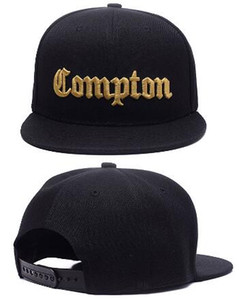Wholesale compton snapback cap for sale - Group buy Hot Christmas Sale Fashion SSUR Snapback Compton Black Hats mens women fashion adjustable snapbacks caps High quality street hat cap