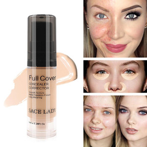 Wholesale Full Cover Colors Liquid Concealer Makeup ml Eye Dark Circles Cream Face Corrector Waterproof Make Up Base Cosmetic