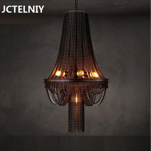 Wholesale Loft creative personality retro industrial heavy metal bar The cafe bicycle chain pendant lamp