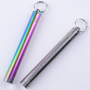 Titanium Alloy Bold Toothpick Waterproof Holder Pocket Travel Kit 88.8MM X070