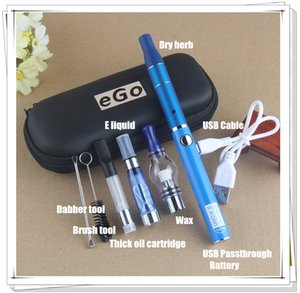 v ein verdampfer großhandel-Authentic All in One Starter Kits UGO V II Gewinde USB Passthrough Batterie Dry Herb Vaporizer Wax Pen Ce3 Vape Cartridges CE4 E Flüssiges
