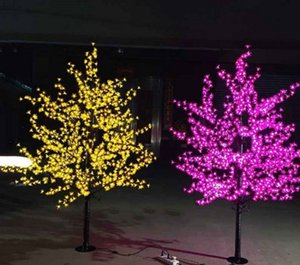 Artificial LED Cherry Blossom Tree night Light New year Christmas wedding Decoration Lights 1.5M~3M LED tree light wedding decoration