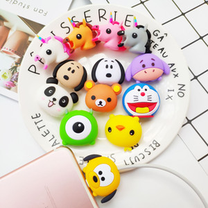 Wholesale Uyoung94 Data Cable Protectors Cute Animal Heads Cable protectors Phone Charger Cords Earphone Cable Protection Cover for Phones
