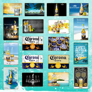 Corona Extra Beer Poster Metal Tin Signs Retro Wall Stickers For Bar Pub Cafe Decoration Art Plaque Vintage Home Decor YD050