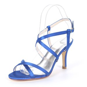 wholesale cross strap summer evening dress shoes satin party prom sandals thin thong sexy pumps silver red champagne blue