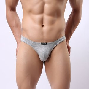 Wholesale Sexy Gay Men Underwear Briefs Thong Sissy Panties Seamless Modal Penis Pouch Panty Convex Briefs Men Comfort Underwear