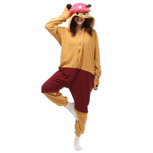 Wholesale Chopper Adult s Japanese Anime Kigurumi Polar Fleece Costume for Halloween Carnival New Year Party welcome Drop Shipping