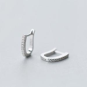 Jemmin Geometry Shape Full Crystal Earrings 925 Sterling Silver Jewelry Accessories Fashion Finding Earrings For Women S18101307