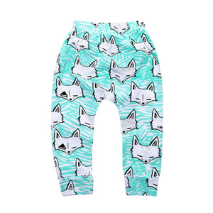 Wholesale blue fox 4 PCS Fruit cartoon Pattern Baby Cotton Trousers Babys Boys Girls PP Pants Harem Pants For Newborn Girl Boy Clothing CP181