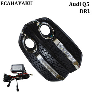 Wholesale High quality Car style Day Light DRL FOR Audi Q5 LED Daytime Running Lights Fog Lamp Cover Kits