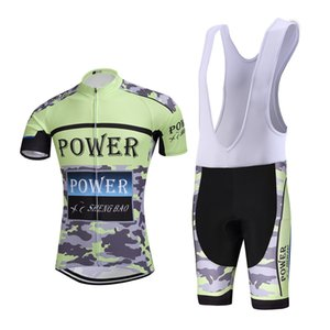Wholesale 2019 hot Cycling jersey Power cycling bib shorts Summer Style cycling set Bicycle Quick Drying Short Sleeve Breathable Men's Shirts Bi