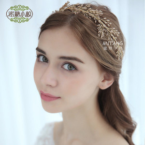 Wholesale 2018 New Europe and America Beautiful Pearl Crystal Hair Band Headdress Bridal Bridal Accessories Into the shop to choose more styles