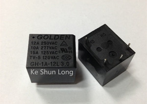 Wholesale Free shipping(10pieces lot) 100%Original New GOLDEN GH-1A-5L GH-1A-12L GH-1A-24L 4PINS 15A 5VDC 12VDC 24VDC Power Relay