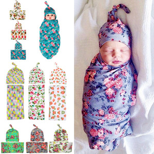 Wholesale new baby sleep bags resale online - 2018 New Infant Baby Swaddle Baby Boys Girls Muslin Blanket Headband Newborn Baby Soft Cotton Sleep Sack Two Piece Set Sleeping Bags
