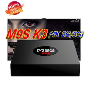 Wholesale Rockchip RK3229 G RAM G ROM M9S K3 Android TV BOX Support K Ultra HD media players better MXQ Pro K TX3 X96 S905W