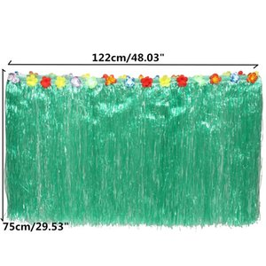 Wholesale Party Flower Green Grass Table Skirt Outdoor Patio Garden Beach Party Camping Events Decoration Party Favor Supplies
