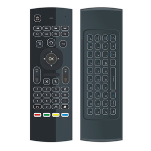 Hot selling 2.4G Remote Control mx3 backlight Mini Wireless Keyboard And air Mouse for android tv box