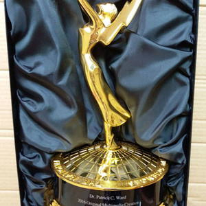 2020 28cm Metal Emmy Trophy Factory Directly Sales Emmy Trophy Awards With Free shipment Emmy Trophy Awards
