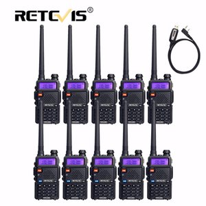 Wholesale 10pcs Retevis Walkie Talkie RT5R Program Cable VHF UHF Radio Station CH FM Frequency Portable cb Radio Set Hf Transceiver