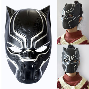 Wholesale Black Panther Masks Movie Cosplay Four Cosplay Men s Latex Party Mask Masquerade For Halloween Christmas Decoration WX9