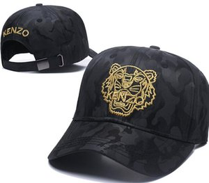 Wholesale New Design Men Baseball Caps cotton Tiger Head Hats Gold Embroidered bone Men Women casquette gorras golf Sports polo Cap