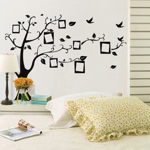 Wholesale New Large Cm in Black D DIY Photo Tree PVC Wall Decals Adhesive Family Wall Stickers Mural Art Home Decor