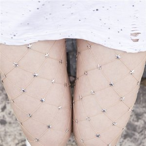 Wholesale Hot Sexy Fishnet Stockings Women Star Sexy Pantyhose Female Punk Fashion Mesh Stocking Black Nylon Party Nightclub Stockings